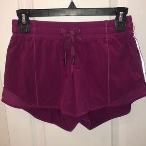 Lululemon purple tie shorts size 4